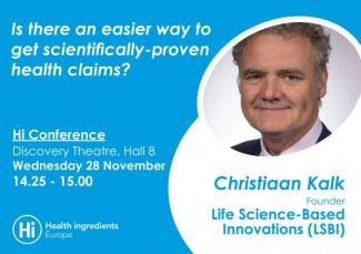 Announcement of Mr. Christiaan Kalk participating at Hi conference 2018 in discussion panel on health claims